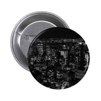 Black & White New York City 6 Cm Round Badge