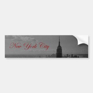 Black White New York City Bumper Sticker
