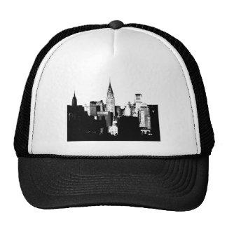 Black & White New York City Mesh Hats