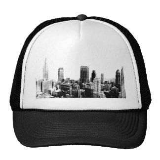 Black & White New York City Trucker Hats