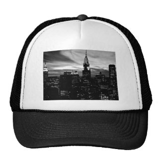 Black White New York City Midtown Trucker Hats