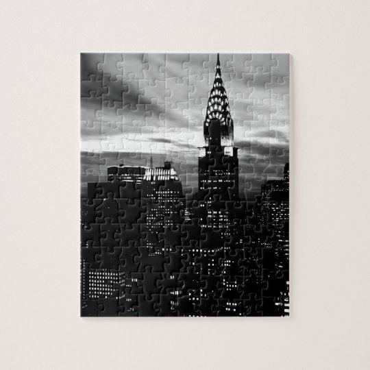 Black & White New York City Midtown Jigsaw