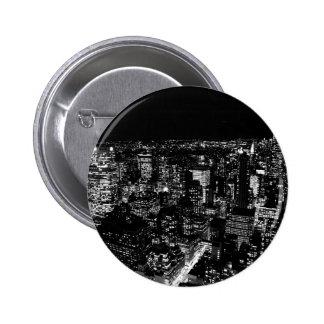 Black & White New York City Night Pin