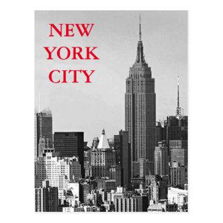 Black & White New York City Panorama Postcard