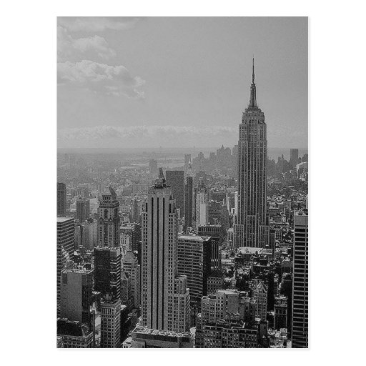 Black & White New York City Post Card