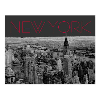 Black White New York City Postcard