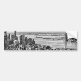 Black White New York City Skyline Bumper Sticker