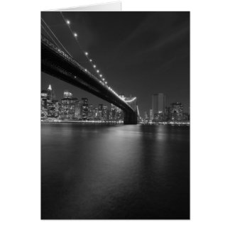 Black White New York City Skyline Greeting Card