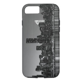 Black White New York City Skyscapers Silhouette iPhone 7 Case
