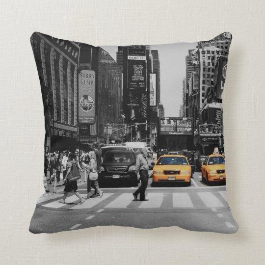 black & white new york cushion taxi cab
