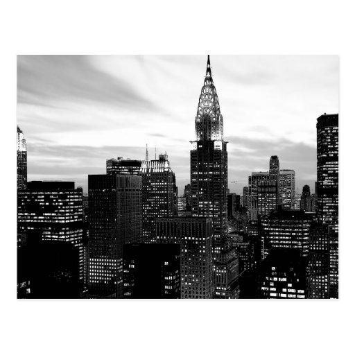 Black & White New York Postcard