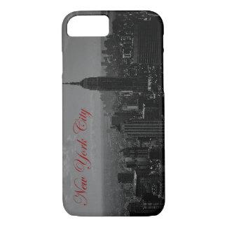 Black & White New York Script iPhone 7 Case