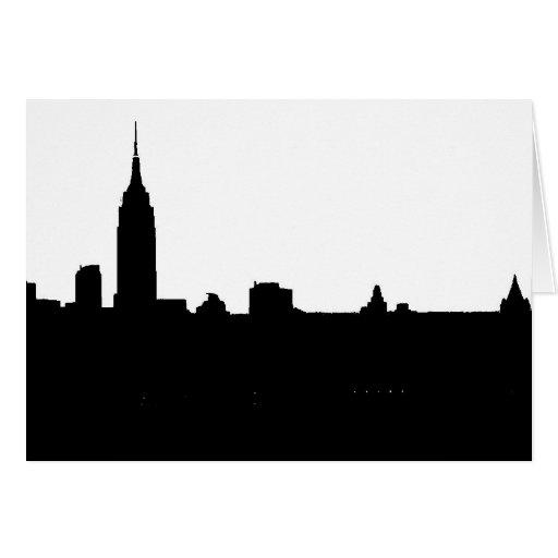 Black & White New York Silhouette Card