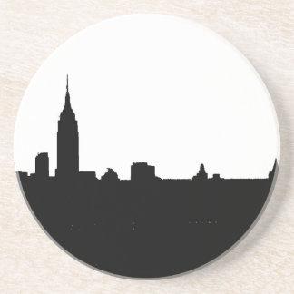 Black & White New York Silhouette Coaster