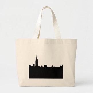 Black & White New York Silhouette Large Tote Bag