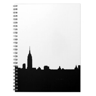 Black & White New York Silhouette Spiral Notebook