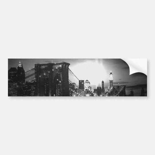 Black & White New York Skyline Bumper Sticker