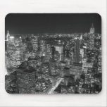 Black & White New York Skyscrapers Mouse Pad