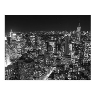 Black & White New York Skyscrapers Postcard