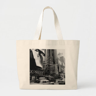 Black White New York Times Square Tote Bags