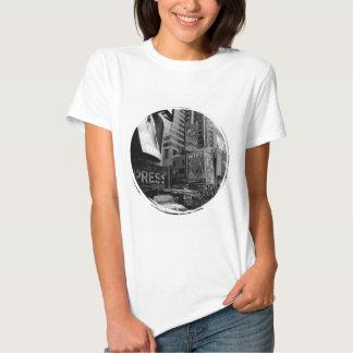 Black White New York Times Square Tshirt