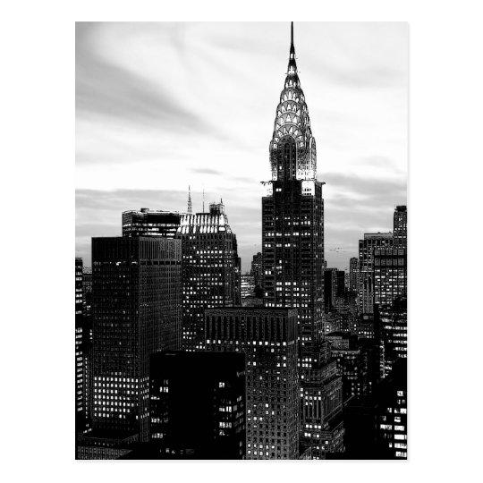 Black & White New York Vertical Postcard