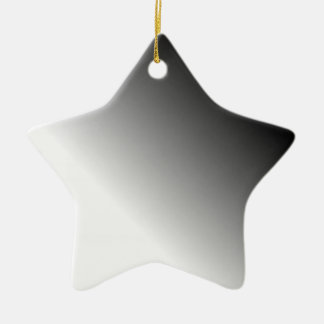 Black White Ombre Christmas Ornament