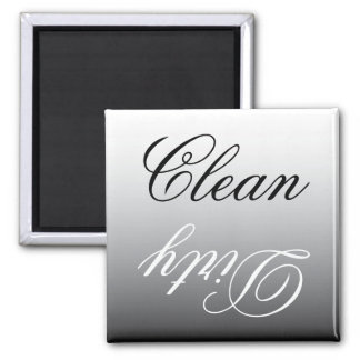 Black & White Ombre Dishwasher Clean/Dirty Magnet