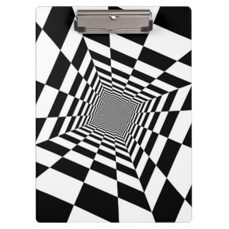 Black White Optical Illusion Clipboard