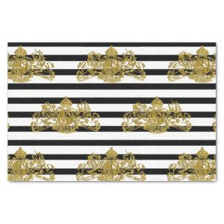 Black & White or Black & Customizable Color Stripe Tissue Paper