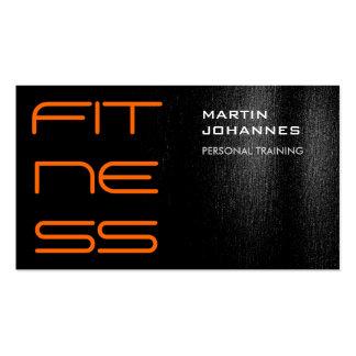 Black White Orange Modern Business Card