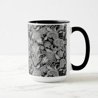 Black & White Ornate Paisley 2 Mug