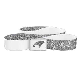 Black&White Paisley Elephant Belt