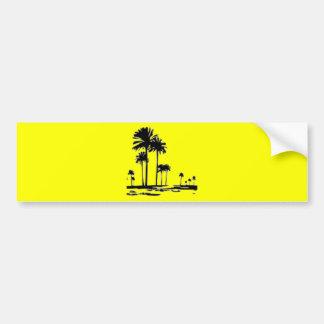 black white palms bumper sticker