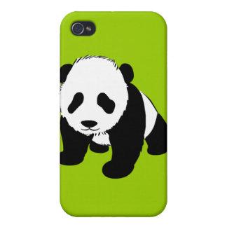 BLACK WHITE PANDA BEAR ENVIRONMENT ANIMALS WILD iPhone 4 CASES