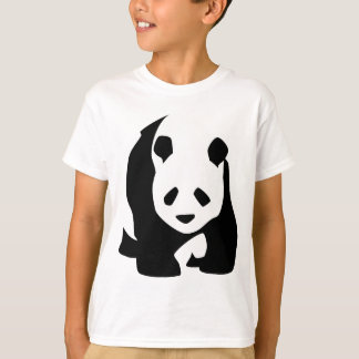 Black White Panda Bear Wildlife Zoo Animal Tshirt