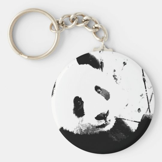 Black & White Panda Key Ring