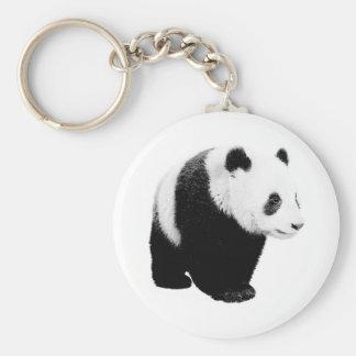 Black White Panda Keychain