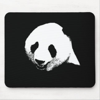 Black White Panda Mousepads