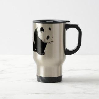 Black & White Panda Stainless Steel Travel Mug
