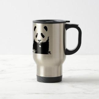 Black & White Panda Pop Art Travel Mugs