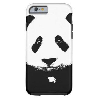 Black & White Panda Tough iPhone 6 Case