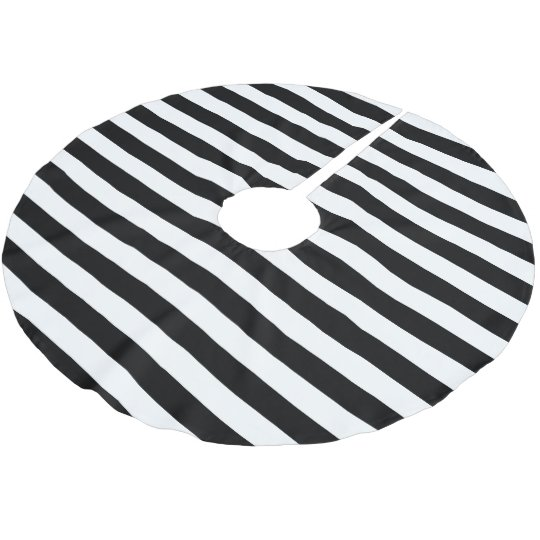 Black White Parallel Stripes Christmas Holiday Brushed Polyester