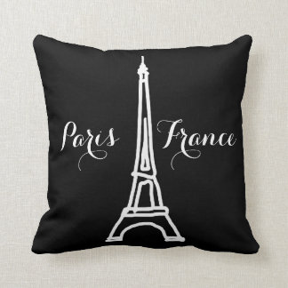 black & white Paris Eiffel Tower nice Cushion