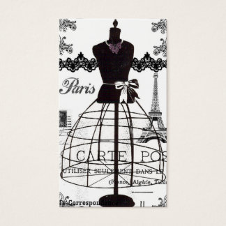 Black White Paris Fashion Mannequin Business Card