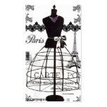 Black White Paris Fashion Mannequin Pack Of Standard Business Cards