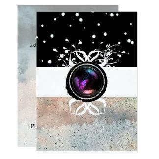 Black White & Pastel Mystic Opal Brooch Card