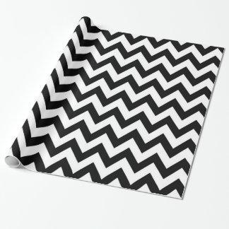 Black White pattern Chevron wrapping paper
