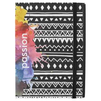 Black&White pattern colour Splash iPad case