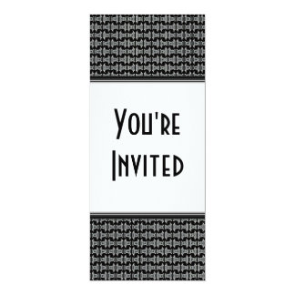 Black White Pattern Party Invite
